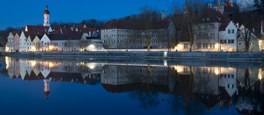 View over  the medieval town of Landsberg am Lech in Bavaria, situated on the Romantische Strasse.