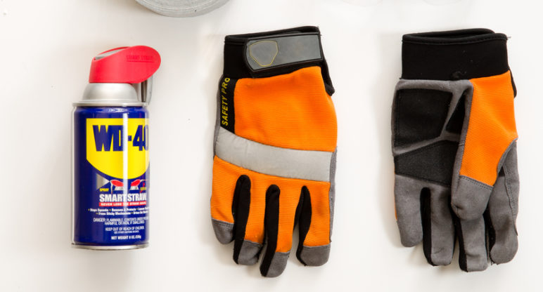 The mechanic's best friends: WD-40 and gaffer tape