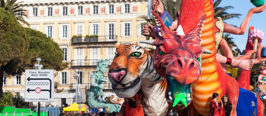 Karneval und Blumenkorso in Nizza