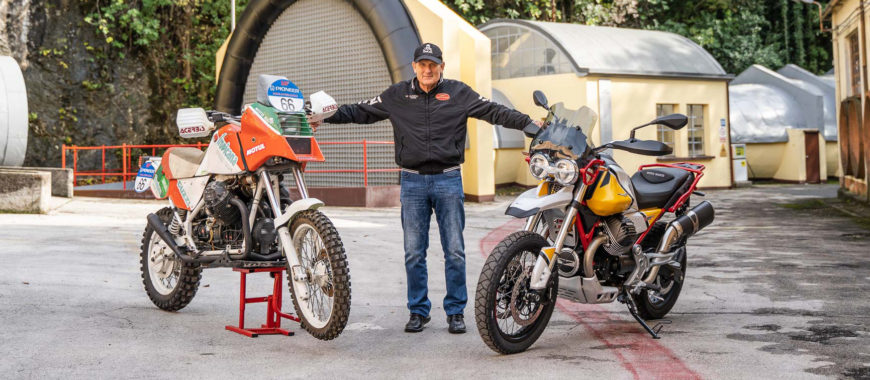 « Mes Dakar en Moto Guzzi » : Claudio Torri, des rallyes africains à la V85 TT